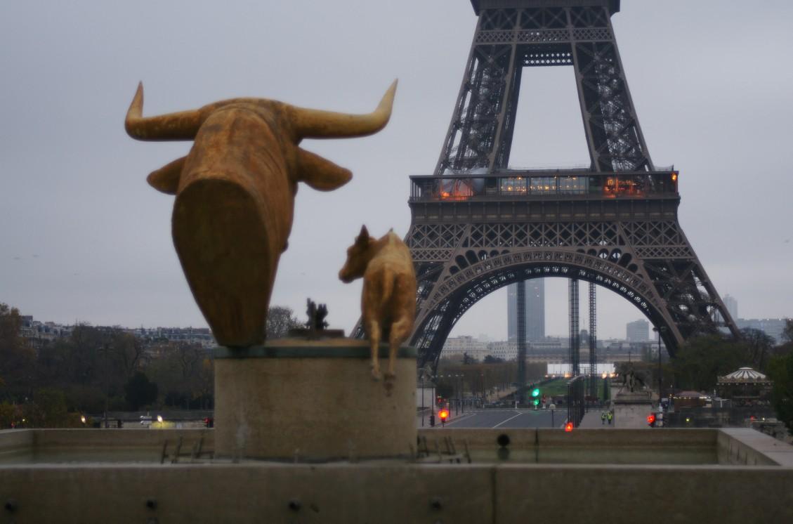 La Tour Eiffel au lever du jour