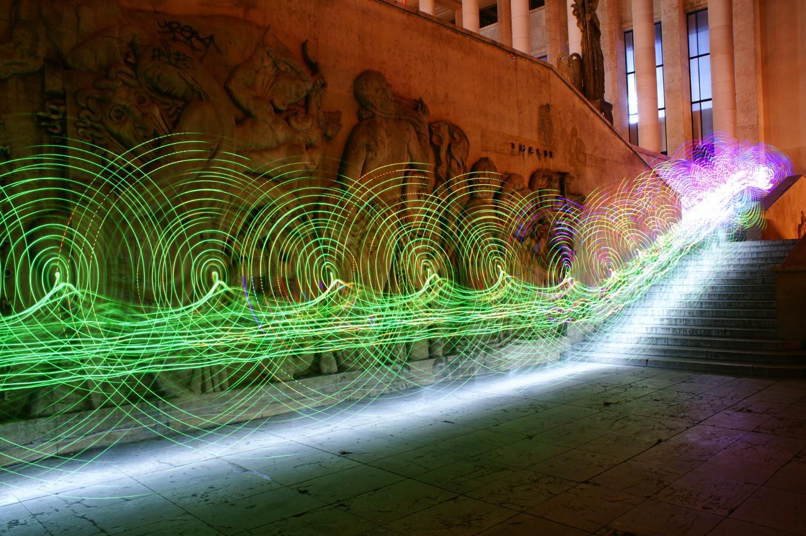 German Lightpainting at the Palais de Tokyo