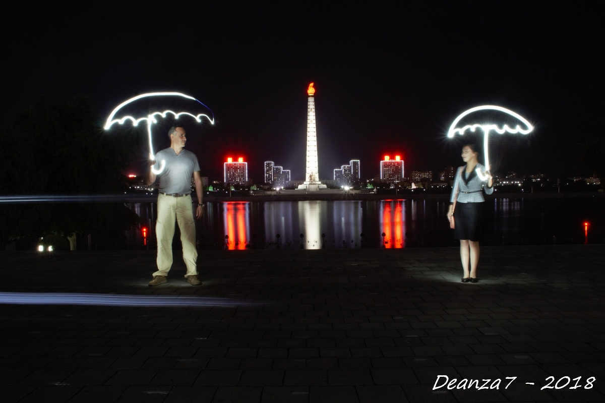 1rst Lightpainting in North Korea